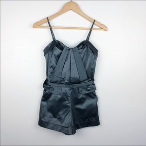 Guess thunder grey silky romper